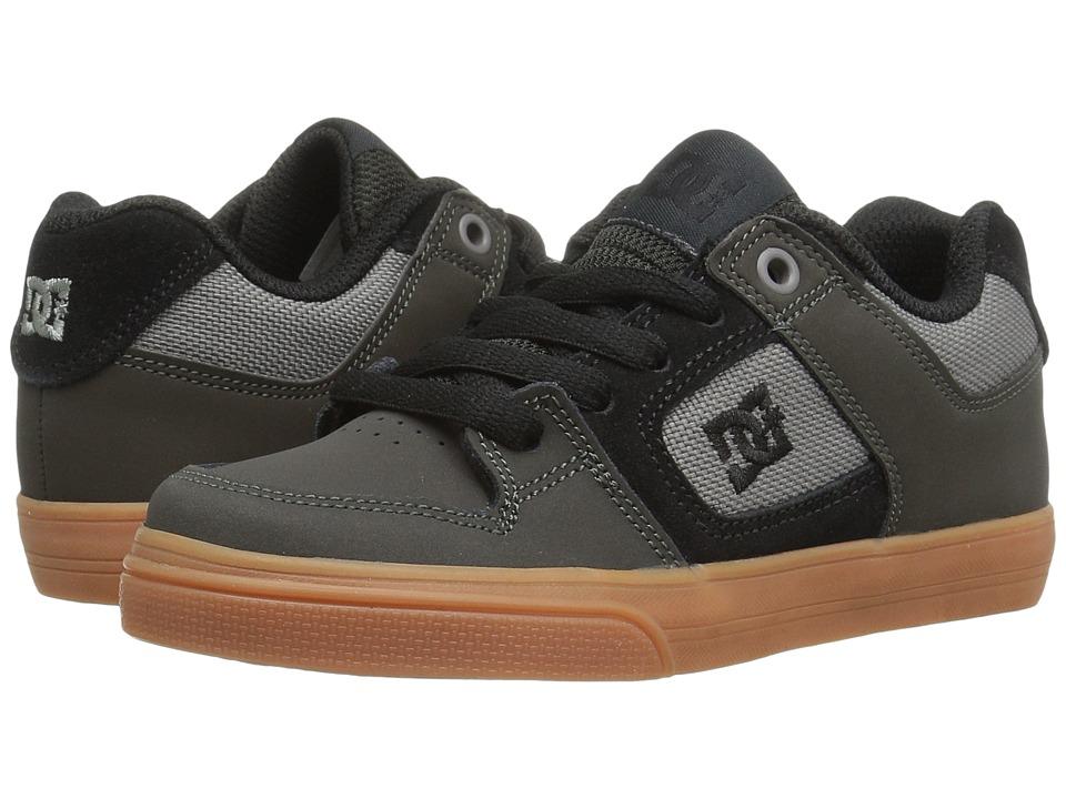 DC Kids - Pure (Little Kid) (Grey/Black) Boys Shoes