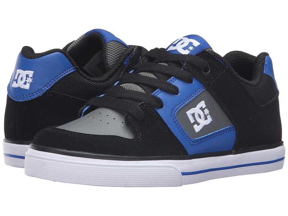 DC Kids - Pure (Little Kid) (Black/Blue/Grey) Boys Shoes