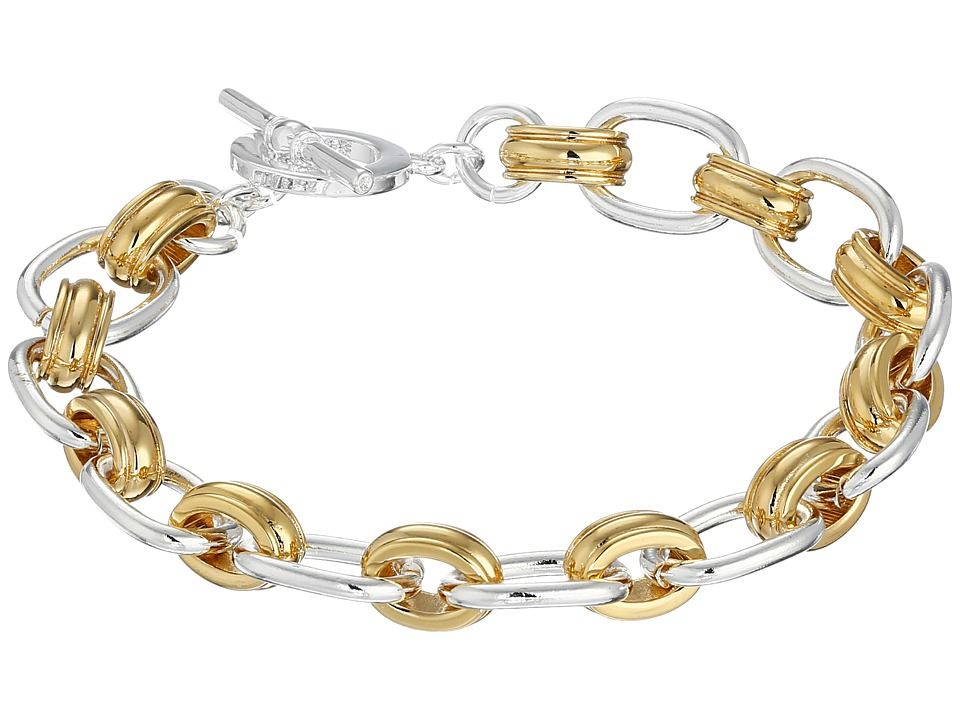 LAUREN Ralph Lauren - Small Cable Link Bracelet (Two-Tone) Bracelet