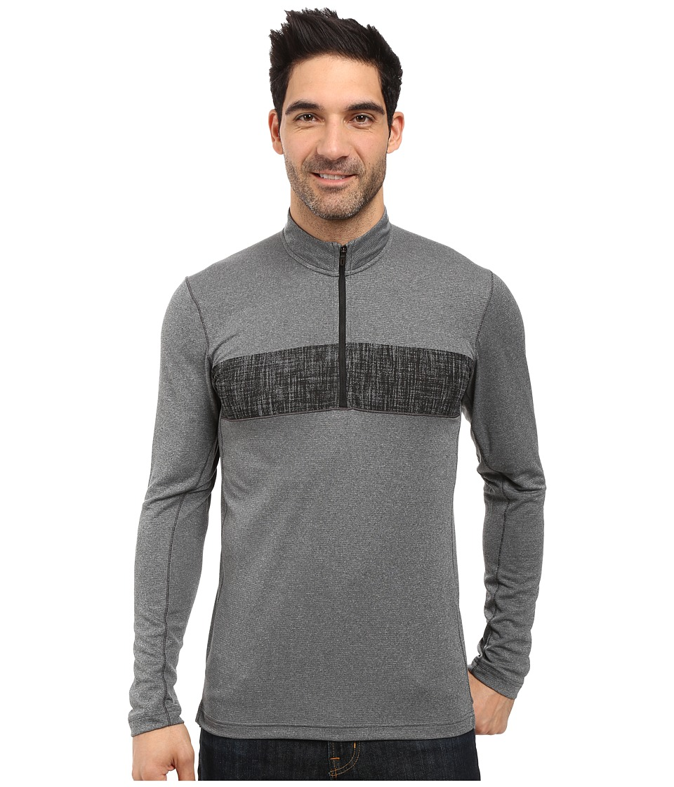 Image of adidas Outdoor - 1/2 Zip Long Sleeve Top (Utility Black) Men's Long Sleeve Pullover