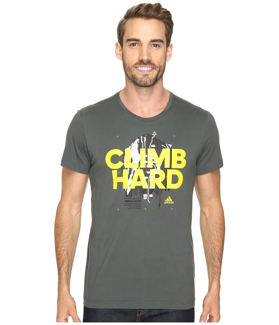 adidas Outdoor Climb Hard Tee (Utility Ivy) Men