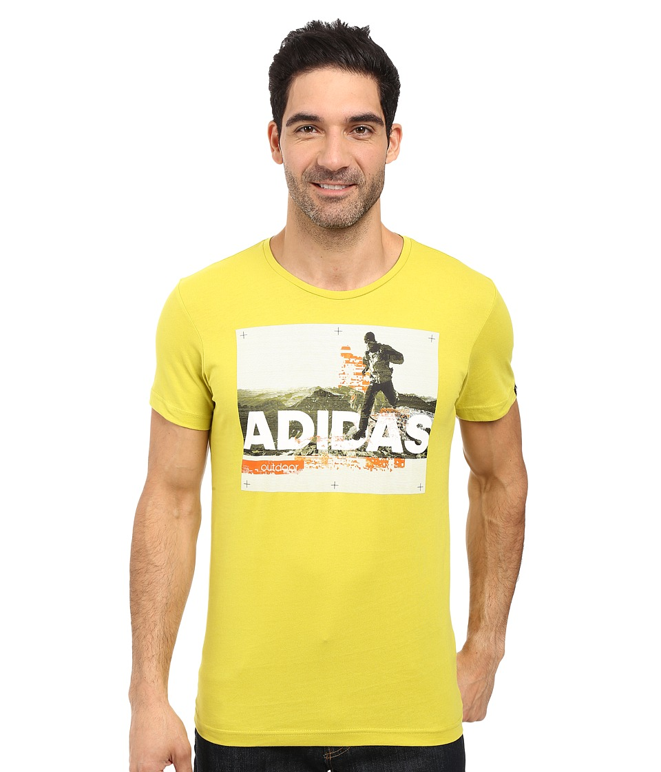adidas Outdoor Trail Running Tee (Unity Lime) Men