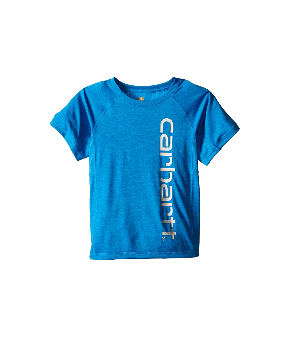 Carhartt Kids Force Pieced Raglan Tee Toddler/Little Kids Blithe Heather Boys Short Sleeve Pullover