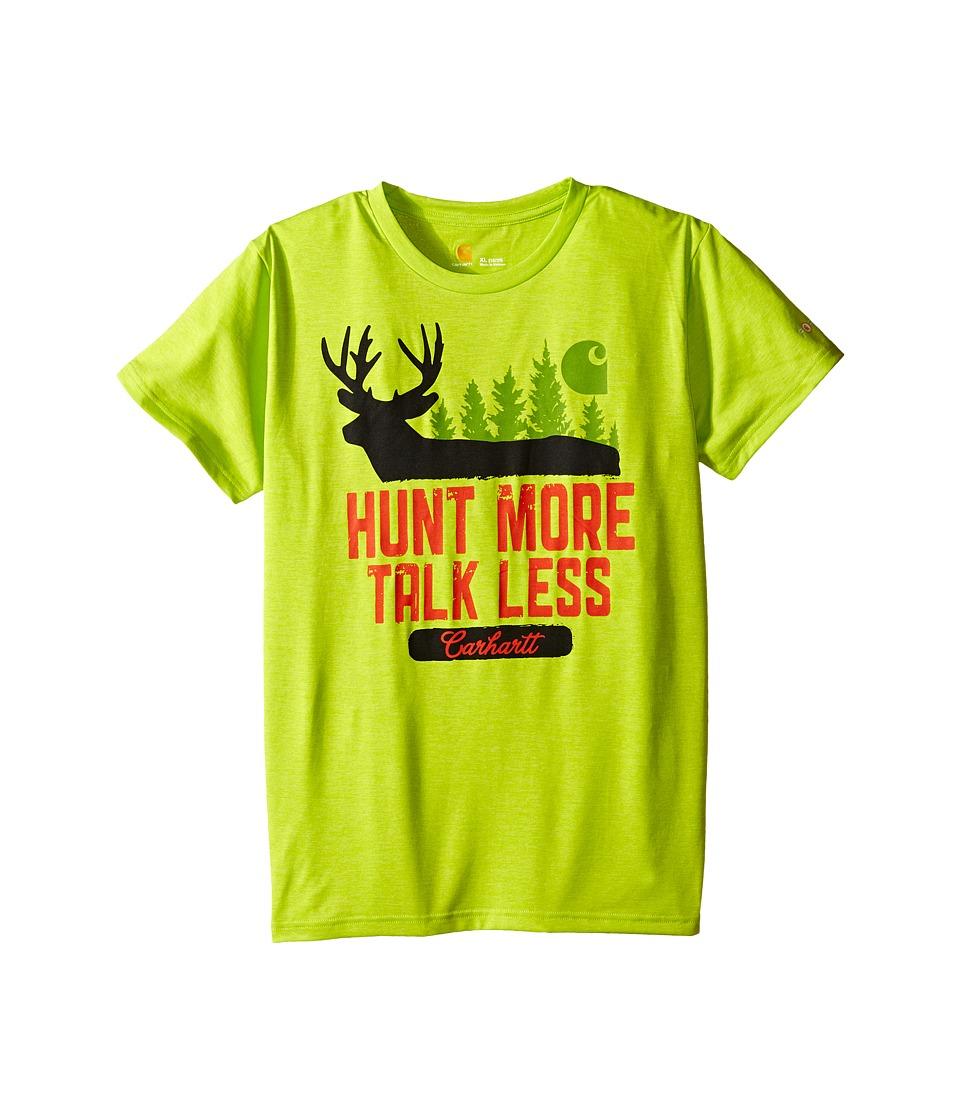 Carhartt Kids Hunt More Force Tee Big Kids Sour Apple Boys Short Sleeve Pullover