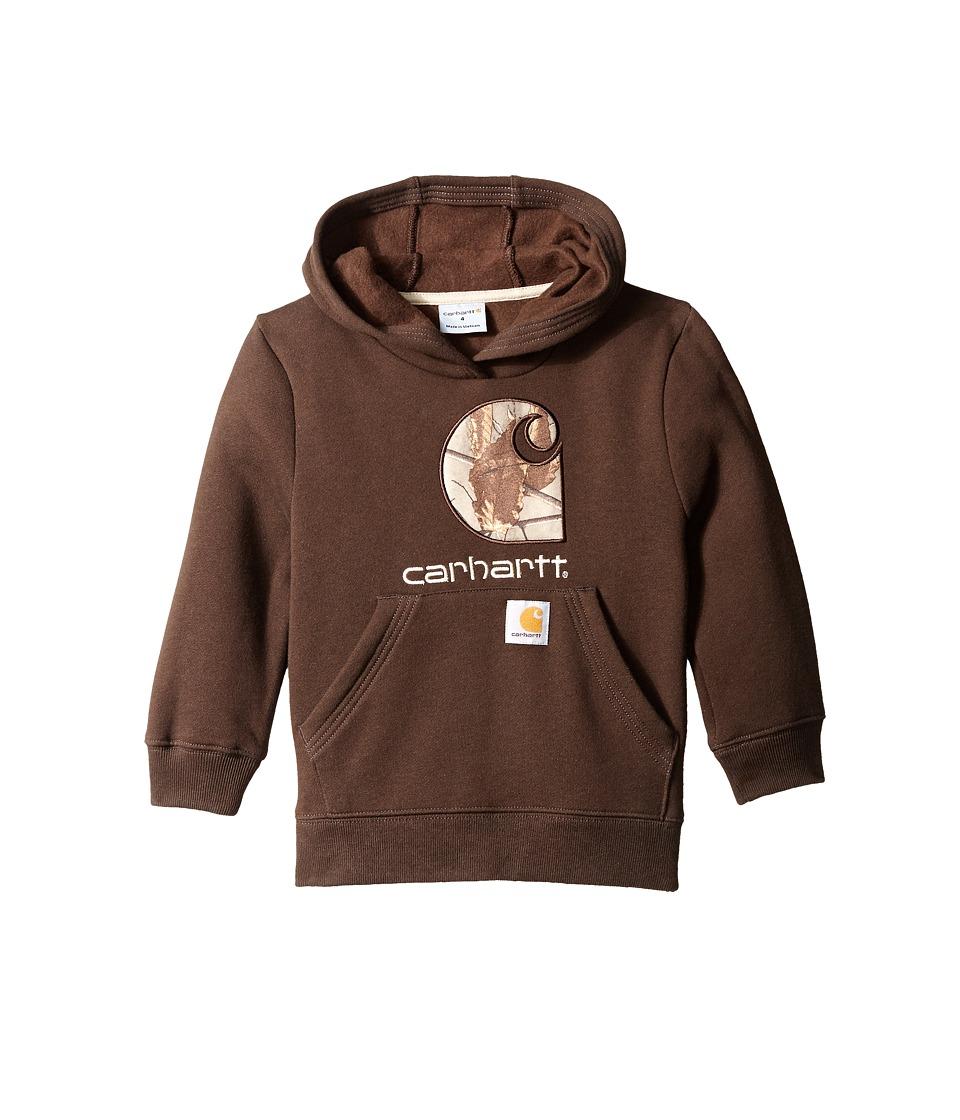 Carhartt Kids Big Camo C Sweatshirt Big Kids Mustang Brown Boys Sweatshirt