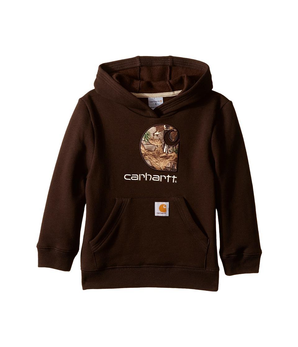 Carhartt Kids Big Camo C Sweatshirt Toddler/Little Kids Mustang Brown Boys Sweatshirt
