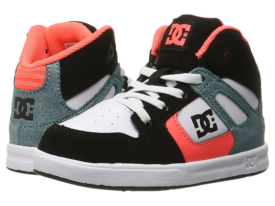 DC Kids - Rebound SE UL (Toddler) (Black/Multi/White) Girls Shoes