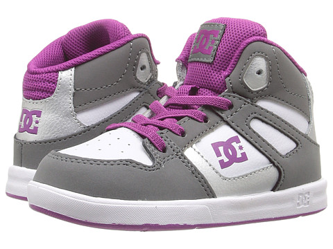 DC Kids Rebound UL (Toddler) - Grey/Purple