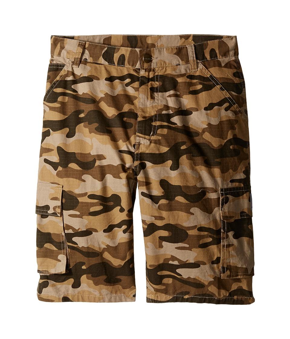 Carhartt Kids Camo Cargo Shorts Big Kids Tan Camo Boys Shorts