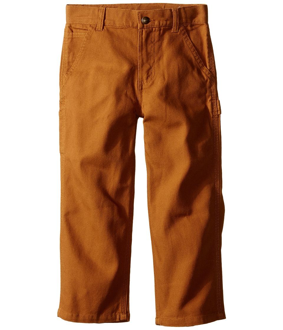 Carhartt Kids Canvas Dungarees Little Kids Carhart Brown Boys Casual Pants