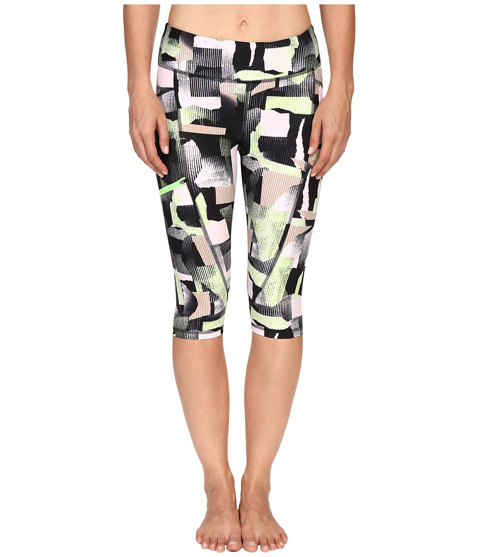 Zobha Printed Capris w/ Side Zip Pocket Paradise Green Womens Capri