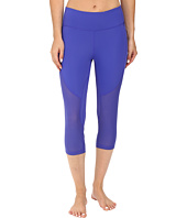 Zobha - Fitted Capris with Contrast Mesh