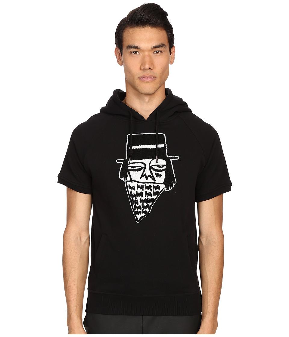Haculla NYC Bandito Short Sleeve Hoodie Black Mens Sweatshirt