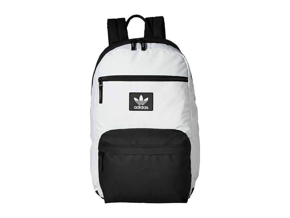adidas - Originals National Plus Backpack (Neo White/Black) Backpack Bags