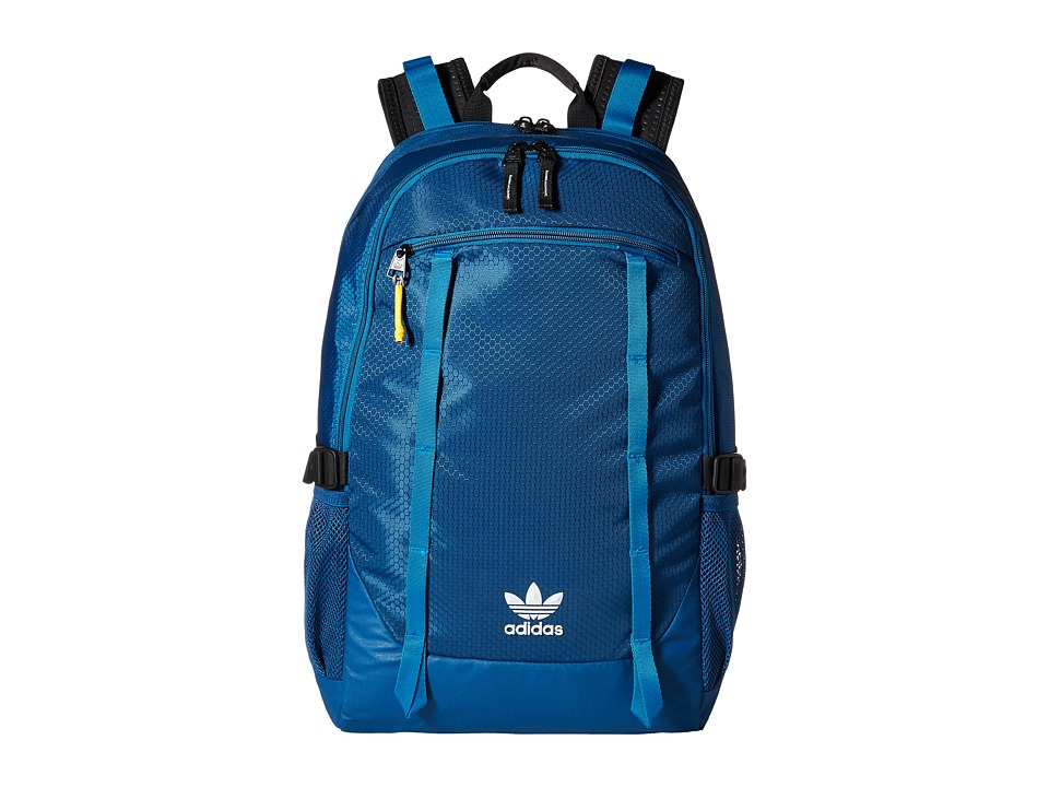 adidas - Originals Create Backpack (Tech Steel/Prime Camo Grey/Unity Blue/Solar Yellow) Backpack Bags