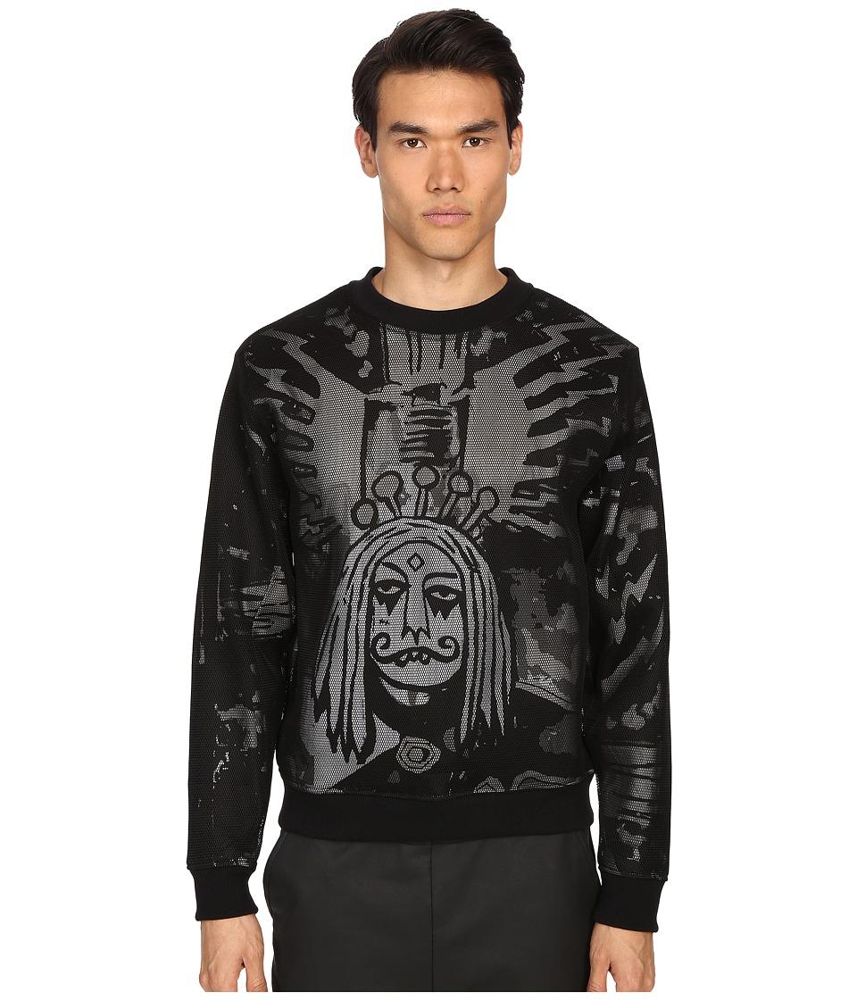Haculla Electric City Mesh Crew Neck Mix Grey Sweatshirt