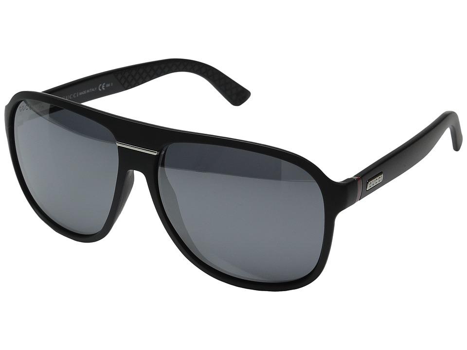 Gucci GG 1076/N/S Matte Black/Black Mirror Fashion Sunglasses