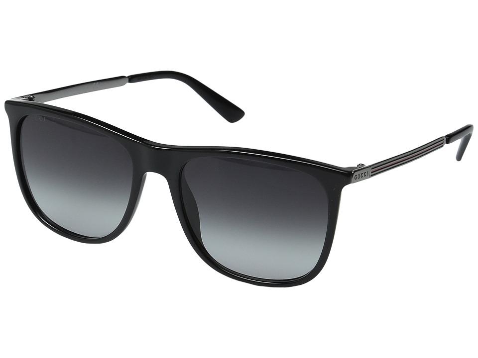 Gucci GG 1129/S Black Ruthenium/Dark Gray Gradient Fashion Sunglasses