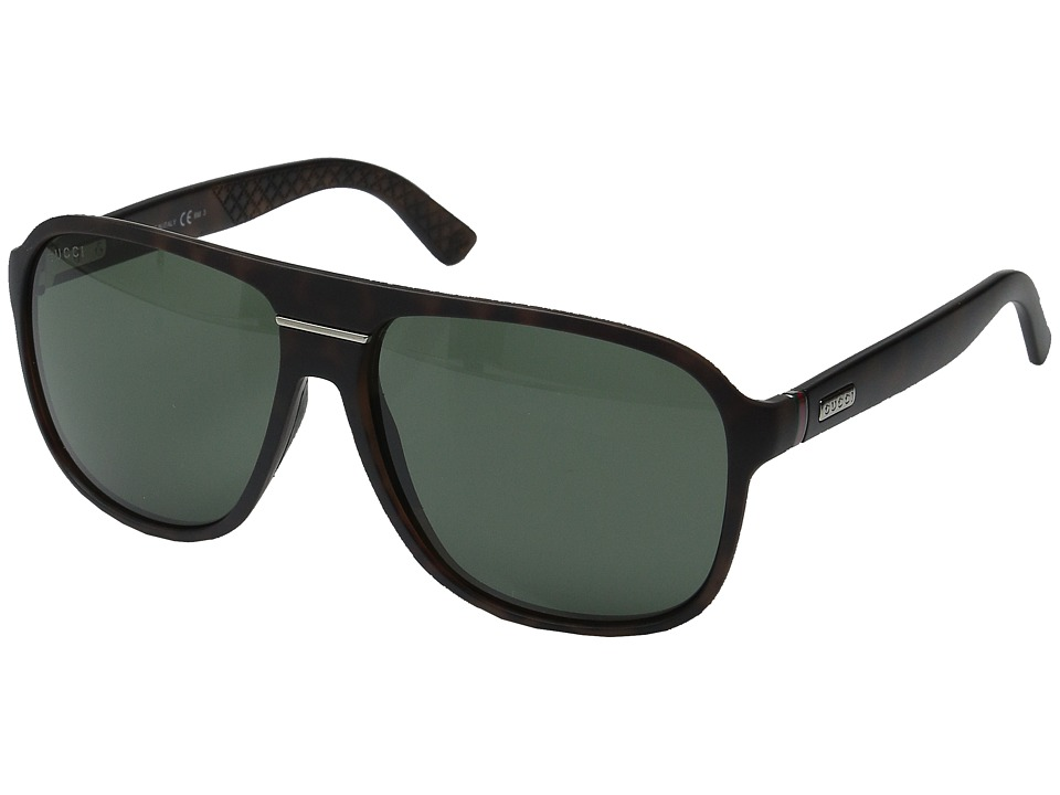 Gucci GG 1076/N/S Havana/Gray Green Fashion Sunglasses