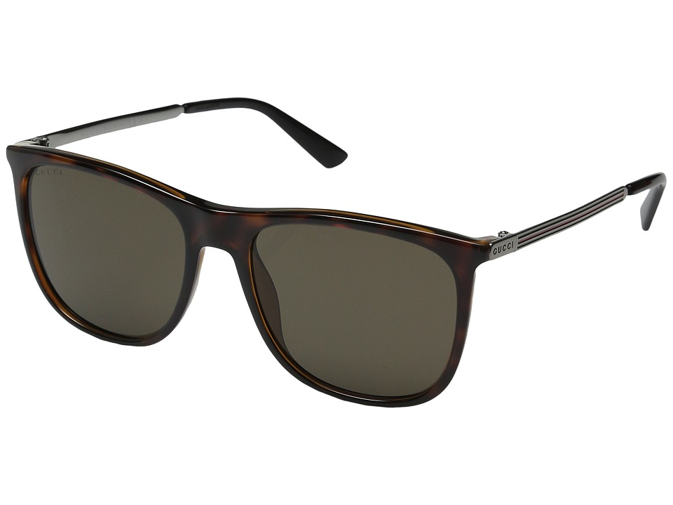 Gucci GG 1129/S Havana Ruthenium/Brown Fashion Sunglasses