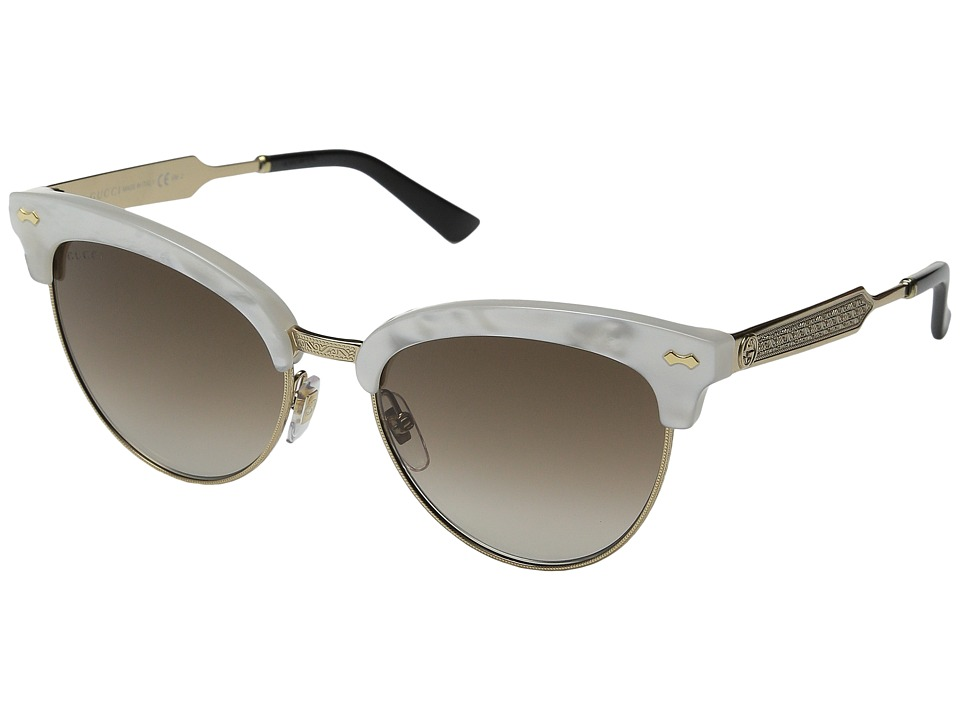 Gucci GG 4283/S Mother of Pearl Gold/Brown Gradient Fashion Sunglasses