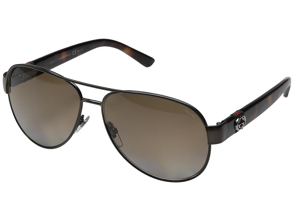 Gucci GG 4282/S Brown Havana/Brown Gradient Polarized Fashion Sunglasses