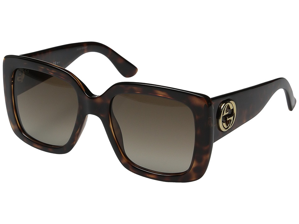 Gucci GG 3814/S Dark Havana/Brown Gradient Fashion Sunglasses