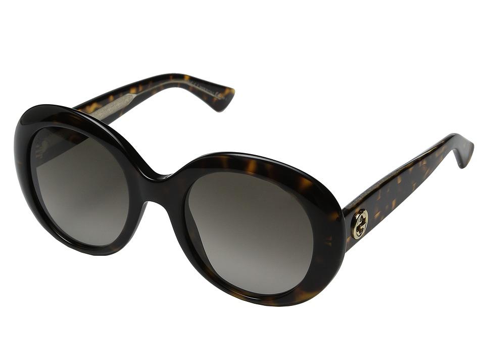 Gucci GG 3815/S Dark Havana Crystal/Brown Gradient Fashion Sunglasses