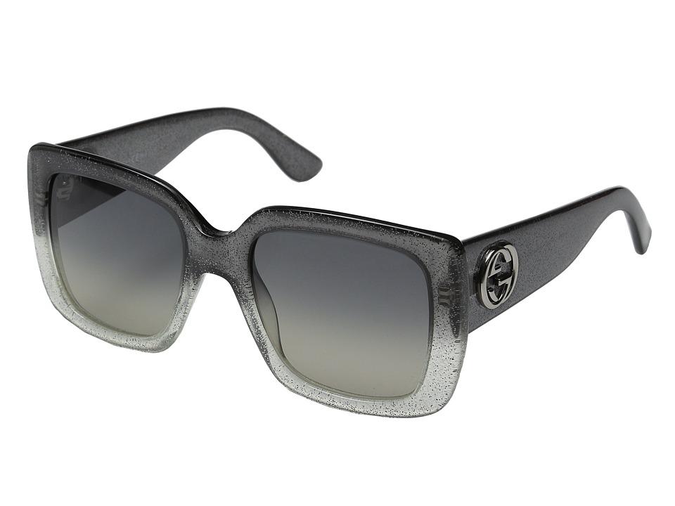 Gucci GG 3814/S Glitter Gray/Dark Gray Shade Fashion Sunglasses