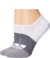 adidas - Original Big Graphic 2-Pack Super No Show Sock
