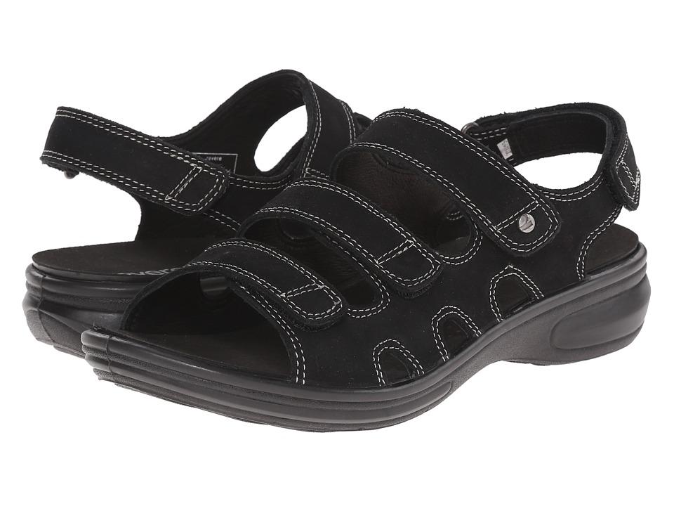 Revere Capri Black Nubuck Womens Flat Shoes