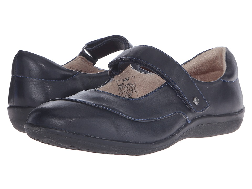 Revere Amalfi Dark Navy Womens Flat Shoes
