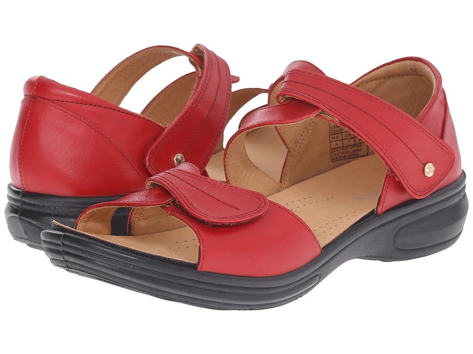 Revere Geneva Red Womens Flat Shoes