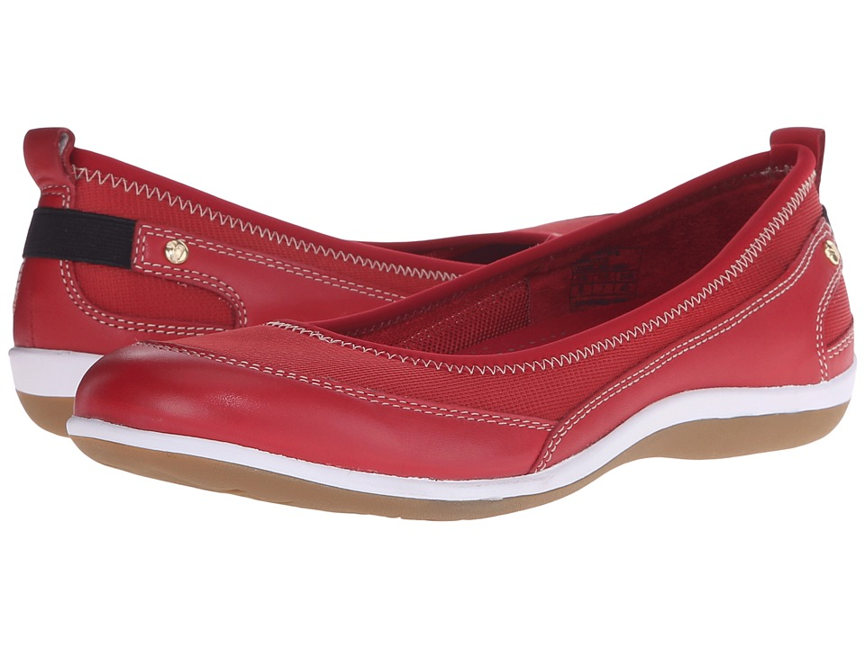 Revere Charlotte Red Mesh Womens Flat Shoes