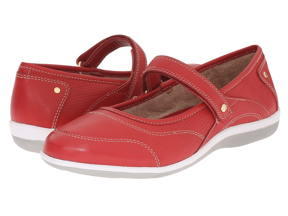 Revere Adelaide Red Womens Flat Shoes