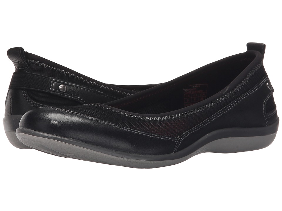 Revere Charlotte Black Mesh Womens Flat Shoes
