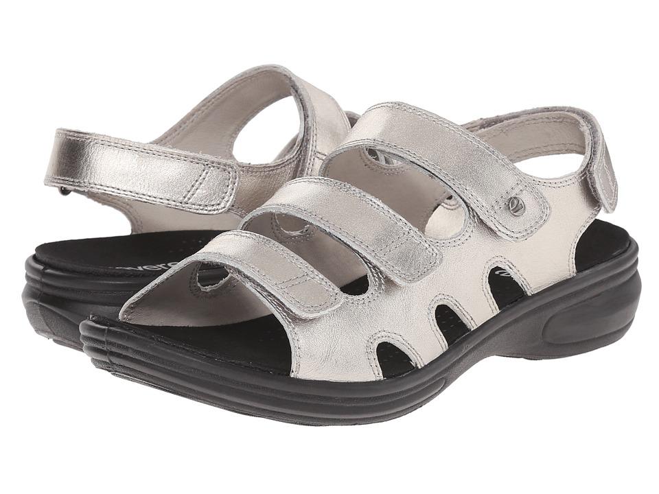 Revere Capri Pewter Womens Flat Shoes