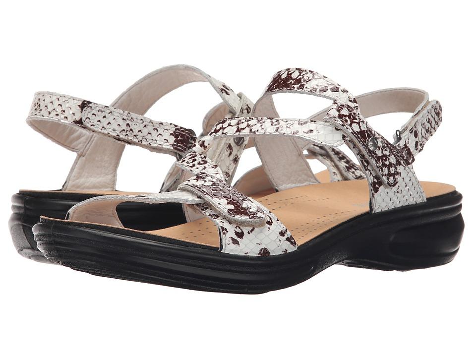 Revere Miami White Snake Womens Flat Shoes