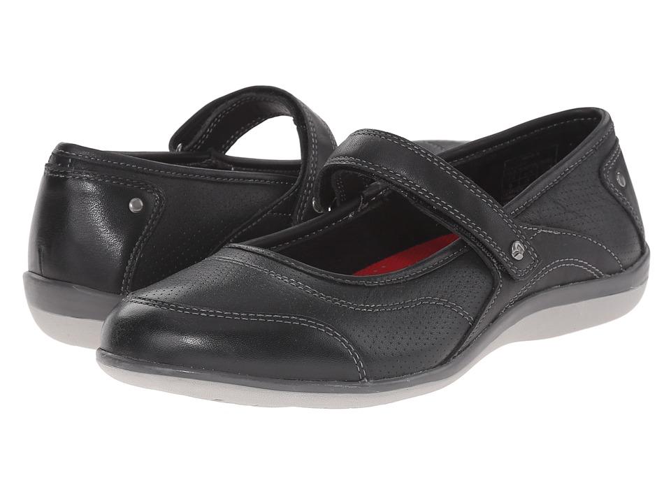 Revere Adelaide Black Womens Flat Shoes