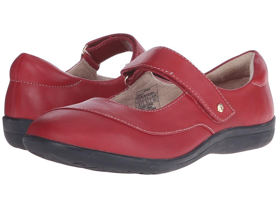 Revere Amalfi Blood Red Womens Flat Shoes