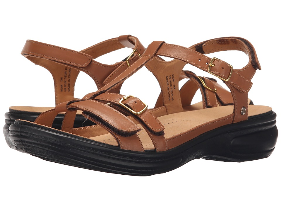 Revere Milan Tan Womens Flat Shoes