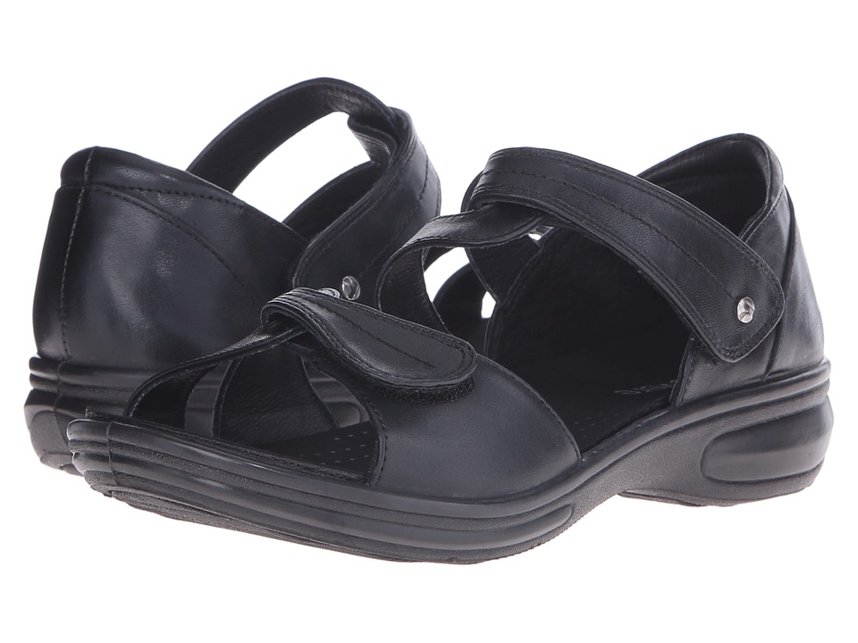 Revere Geneva Black Womens Flat Shoes