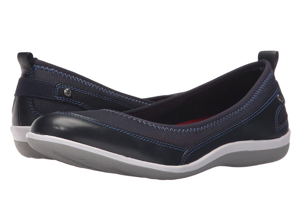 Revere Charlotte Navy Mesh Womens Flat Shoes