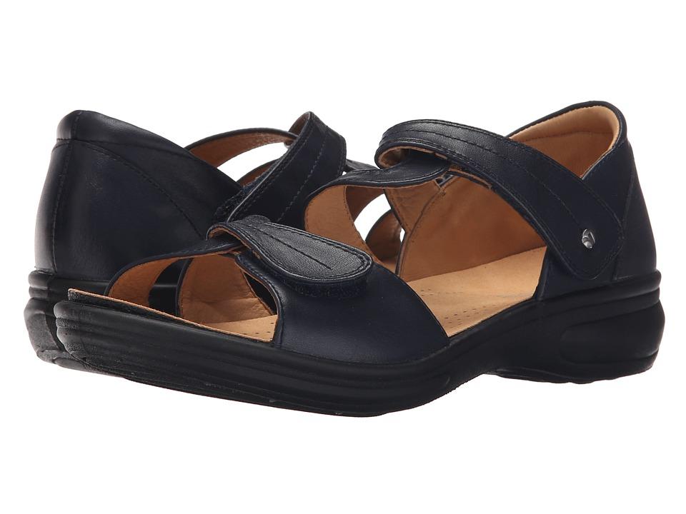 Revere Geneva Navy Womens Flat Shoes
