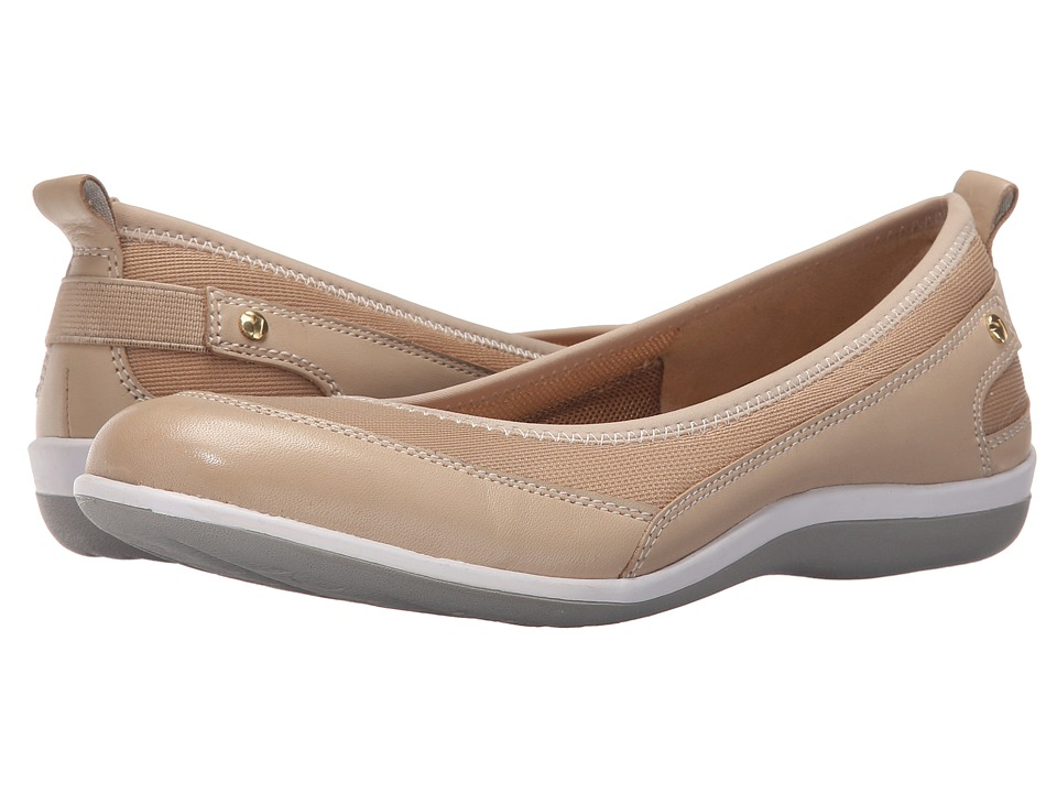 Revere Charlotte Taupe Mesh Womens Flat Shoes