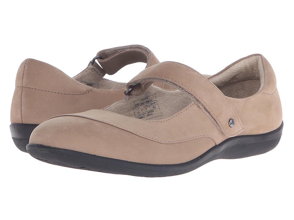 Revere Amalfi Grey Nubuck Womens Flat Shoes