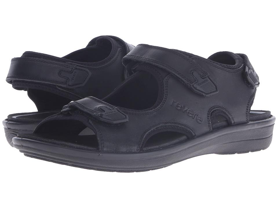 Revere Montana Black Mens Flat Shoes