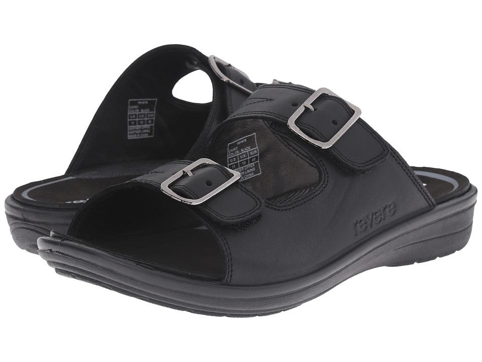 Revere Cairo Black Mens Flat Shoes