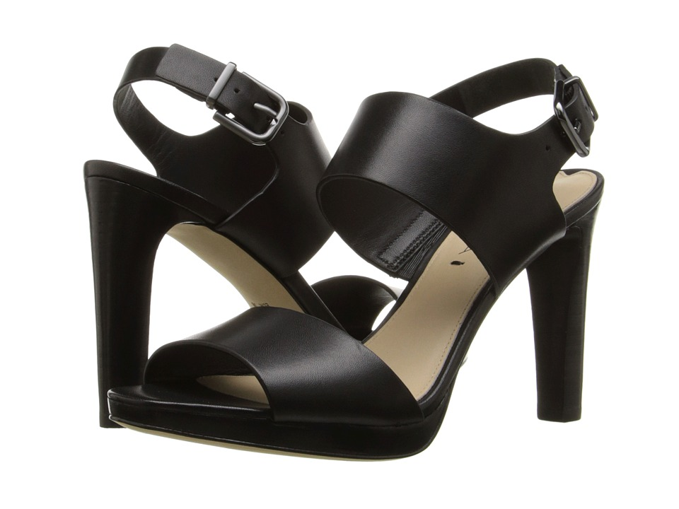 Via Spiga - Renny (Black Leather) High Heels