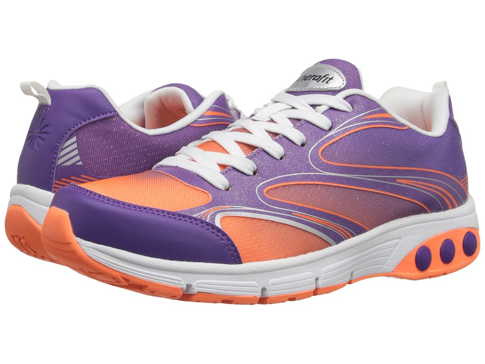 THERAFIT Arielle Purple/Orange Womens Lace up casual Shoes